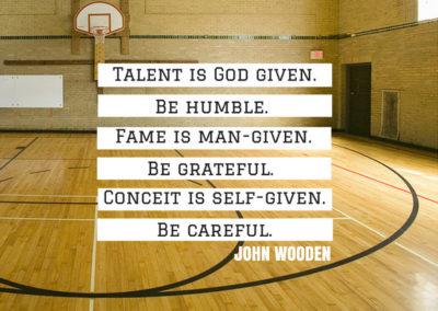 John Wooden motivational quote
